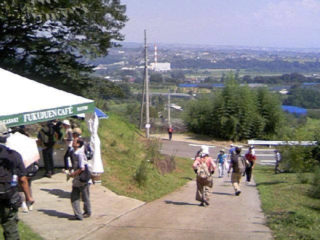 駅からハイキング 里見天神山 参加者 約700名