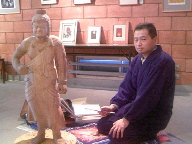 仏像彫刻・中曽根秀玉さん