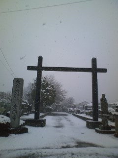 東国は雪で