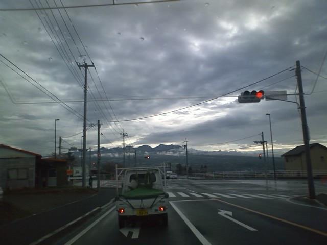 朝の赤城山