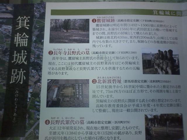 箕輪城に関連の文化財